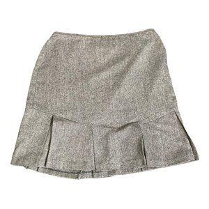 George by M.E. Wool Blend Skirt Pleated Hemline